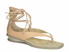 Stella McCartney women ankle strap thong in light pink vegan