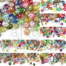Acrylic Foil Beads Spacer DIY Bracelet Necklace Jewelry Making Craft 16 Styles