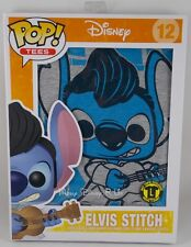 Funko Pop Tees Disney Lilo Stitch The King Elvis T-Shirt Boxed Exclusive Standee