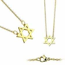 Star of David Pendant 316L Stainless Steel Chain Necklace