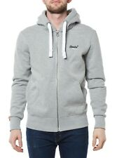NEW SUPERDRY PULLOVER MENS SWEATER JACKET M20000NS GRAY HOODY MEN