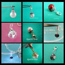 Origami Owl Dangles IVORY red pearl crystal SILVER NIGHT CRYSTAL Crystal Element