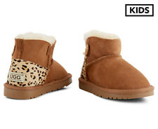 OZWEAR Connection Kids' Ugg Mini Button Boots - Chestnut