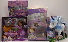 6 /4 pcs - Princess SOFIA Comforter + Sheet + Tea Party Doll + SKYE Unicorn TWIN
