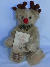 HERMANN GERMANY RUDOLPH WITH THE RED NOSE LTD ED 500 SIGNED MOHAIR JOINTED BEAR