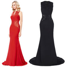 Lace Long Mermaid Formal Prom Dresses Party Ball Evening Pageant Wedding Gown