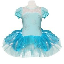Kids Girls Princess Ballet Snowflake Tutu Dancewear Party Dress Fancy Costume