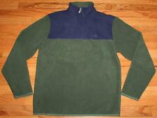 NEW NWT Brooks Brothers Mens Polar Fleece Pullover Jacket $79 Green & Blue *E9