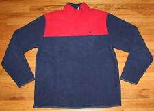 NEW NWT Brooks Brothers Mens Polar Fleece Pullover Jacket $79.50 Red & Blue *E4