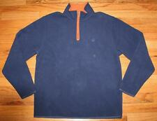 NWT Brooks Brothers Mens Polar Fleece Pullover Jacket $79 Navy Blue Orange *E8