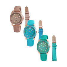 Wrist Watch Ladies Changeable Strap Silicone Leather Imitation Bracelet Analogue