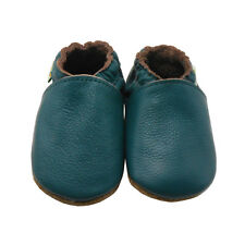 Sayoyo Baby Soft Sole Genuine Leather Toddler Infant Shoes Moccasins Darkcyan