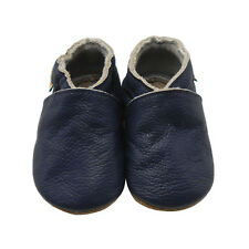 Sayoyo Baby Soft Sole Genuine Leather Toddler Infant Shoes Moccasins Navy Blue