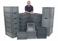 NEW Extra Strong Industrial Plastic Euro Storage Boxes Box - Choice Of 7 Sizes