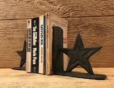 """Cast Iron Texas Lone Star Bookends 5 1/2"""" tall Western Home Decor 0170S-04411"""
