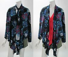 Eight Sixty Moon Print High Low  Multi-Color Blouse Shrug Size M NWOT