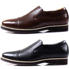 New Polytec Leather Men Formal Dress Casual Fashion Slip on Loafers Shoes
