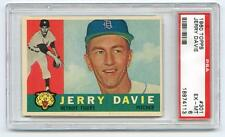 1960 TOPPS BASEBALL #301 DETROIT TIGERS JERRY DAVIE PSA 6 EX-MT