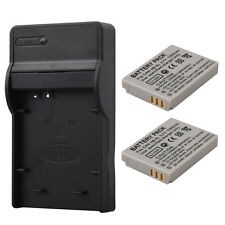2x 1200mAh NB5L Camera Battery With Charger For Canon S110 SD990 SX200is SX210IS