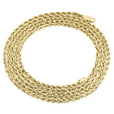Real 10K Yellow Gold Solid Rope Chain 2mm Twist Necklace Unisex 16-30 Inches