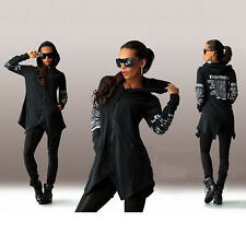 New Womens Zipper Hoody Hoodies Long Sleeve Jacket Sweatshirt Outwear Coat Tops