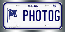 Alaska License Plate Vintage Custom Vanity Personalized Aluminum 1956 to 1968