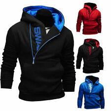 Mens Hoody Sweater Hoodie Coat Jacket Sweatshirt Jumper TrackSuit Tops Slim Fit