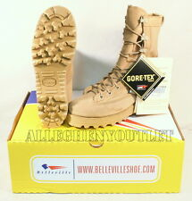 NEW US Military 790 Temperate Weather Goretex Combat Boots Vibram Sole TAN