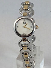 Ladies ESQ Movado E5440 Two Tone Stainless Steel Diamond Accented MOP Dial Watch