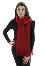 Women's Alpaca Wool Yarn Winter Knitted Soft And Warm Scarf Solid Color Design