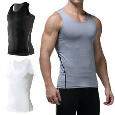 New Mens Compression Base Layer Sports Under Wear Sleeveless Tank Top Vest Shirt