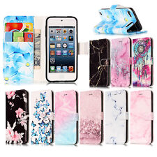 Magnetic Flip Stand Wallet Card Leather Case Cover For iPod Touch 5th 6th Gen dl