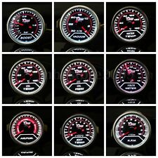 2'' 52MM LED CAR BOOST/VACUUM/WATER/OIL TEMP/PRESSURE/VOLT/FUEL/EGT/TACHO GAUGE