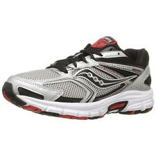 Saucony Grid Cohesion 9 Mens Silver/Black/Re Sneakers