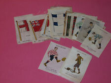B.D.V Godfrey Phillips silk cigarette cards League Colours Flags Scottish Clans