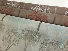 Latest Designer Sprinter Tree Pocketed Curtain Fabric Upholstery Embroidery Leaf