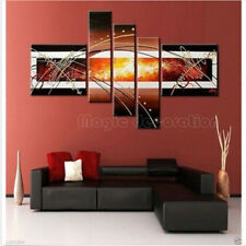 HOT 5PC MODERN ABSTRACT HUGE WALL ART OIL PAINTING ON CANVAS WITH FRAMED