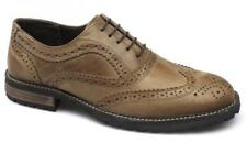 Red Tape BARROW Mens Leather Lace Up Brogue Wingtip Commando Shoes Red Brown New
