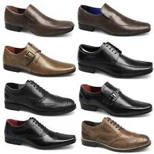 Red Tape Mens Leather Lace-Up Slip-On Padded Brogue Work Formal OFFICE SHOES New
