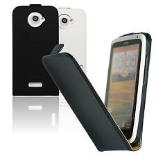 Artificial Leather Case for HTC One X - Flip-Case  + protective foils