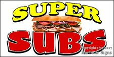 (CHOOSE YOUR SIZE) Super Subs DECAL Concession Food Truck Vinyl Sticker