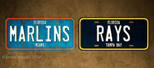 Florida Miami Marlins Tamp Bay Rays  License Plate Vanity Auto Tag Fathers Day