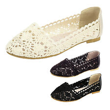 Casual Womens Sandals Wedding Loafers Lace Elegant Flats AU sz 4 5 6 7 8 9 10