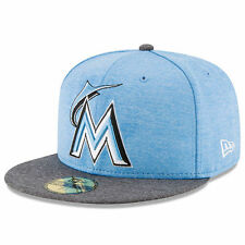 Miami Marlins New Era 2017 Father's Day 59FIFTY Fitted Hat - Heather Blue - MLB