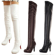 Shoes Womens Fashion - Over the Knee Slimming High Heels Boots AU sz 4 5 6 7