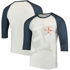 Houston Astros Baseball 3/4-Sleeve Raglan T-Shirt - White/Navy - MLB