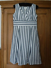 *JOULES* Size 16 Blue & White Cotton Bronte Dress NEW*