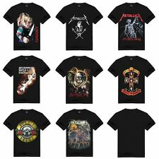 Hot Mens 3D Print Skull Punisher Graphic T-shirt Gothic Punk Rock Band Top Tee