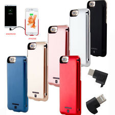 External 5000mAh Power Bank Battery Backup Charger Cover Case For Iphone 6/6s/7