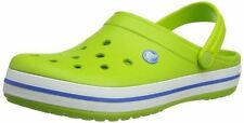 Crocs Crocband Clog Mens 11 Womens 13 Volt Green Varsity Blue Unisex New NWT
